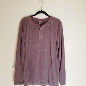 32 Degrees Heat Maroon Henley